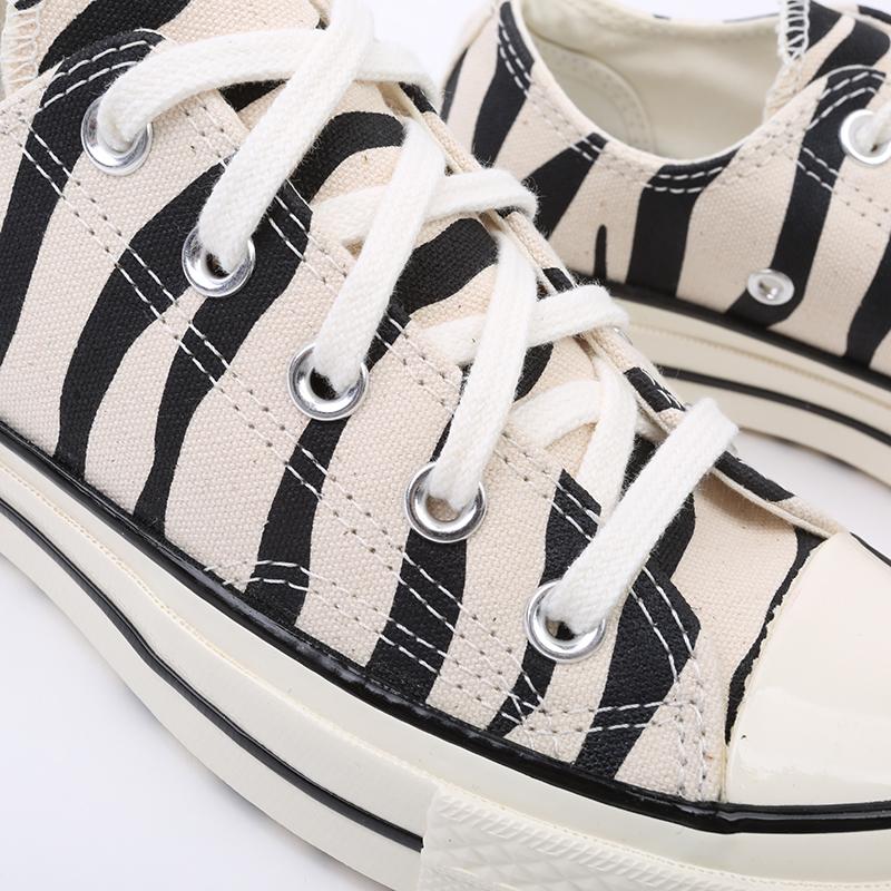 чёрные, бежевые  кеды converse chuck 70 ox 167811 - цена, описание, фото 4