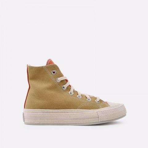 коричневые  кеды converse chuck 70 hi 167767 - цена, описание, фото 1