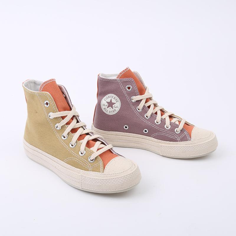 коричневые  кеды converse chuck 70 hi 167767 - цена, описание, фото 3
