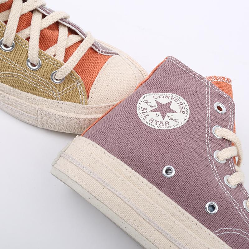 коричневые  кеды converse chuck 70 hi 167767 - цена, описание, фото 5