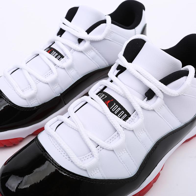 мужские белые, чёрные  кроссовки jordan 11 retro AV2187-160 - цена, описание, фото 8