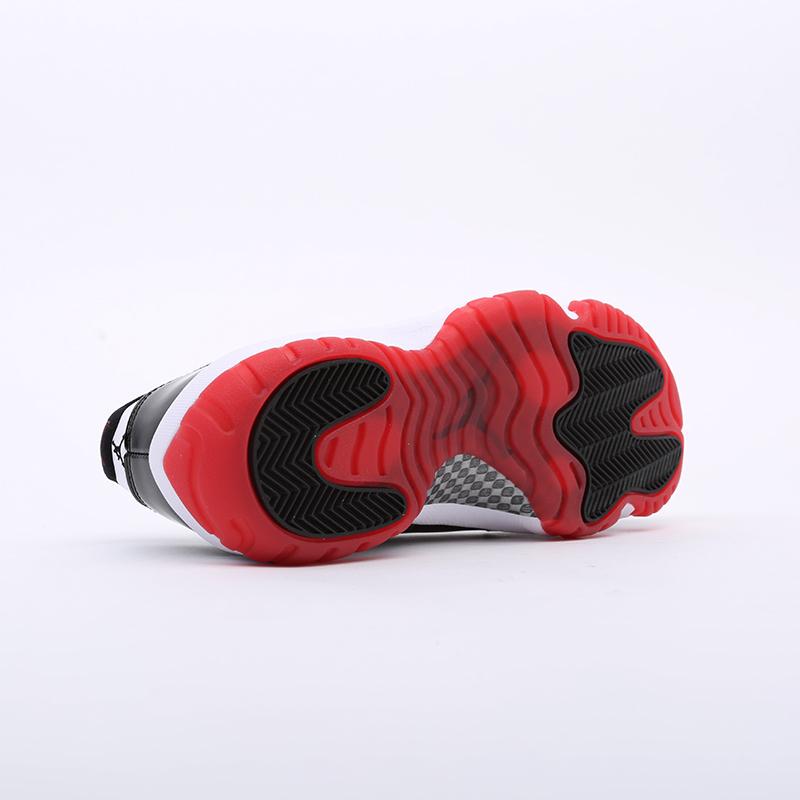 мужские белые, чёрные  кроссовки jordan 11 retro AV2187-160 - цена, описание, фото 4