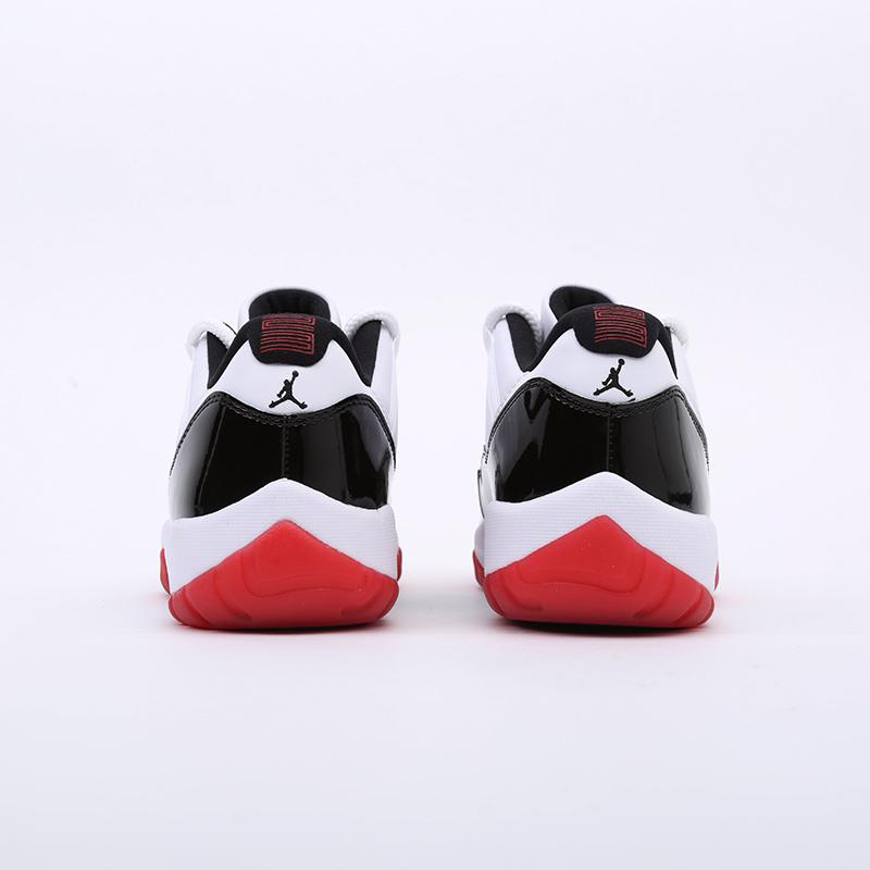 мужские белые, чёрные  кроссовки jordan 11 retro AV2187-160 - цена, описание, фото 5