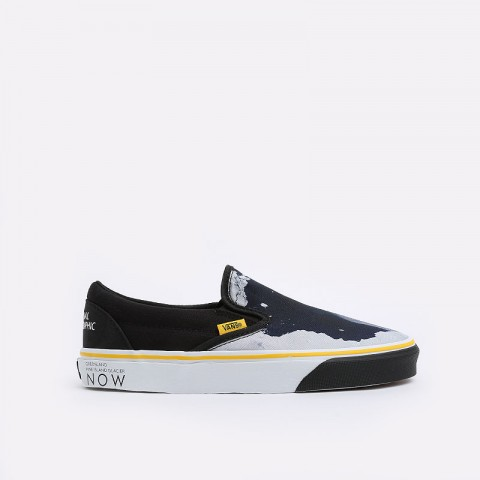 мужские черные  кеды vans classic slip-on national geographic VA4U38WT3M - цена, описание, фото 1