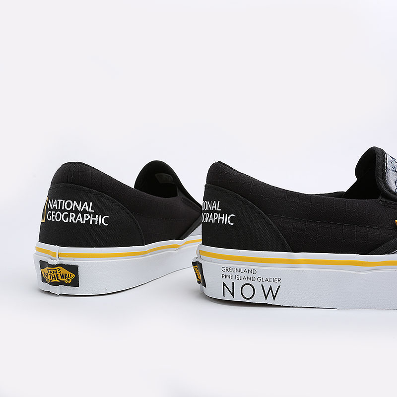 мужские черные  кеды vans classic slip-on national geographic VA4U38WT3M - цена, описание, фото 4