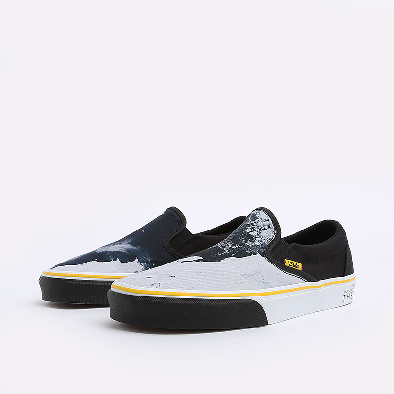 мужские черные  кеды vans classic slip-on national geographic VA4U38WT3M - цена, описание, фото 2