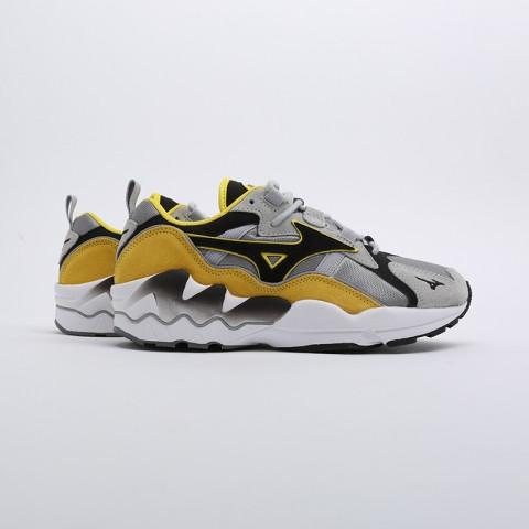 мужские серые, жёлтые, белые, чёрные  кроссовки mizuno wave rider 1s D1GA193247 - цена, описание, фото 2