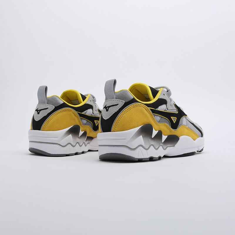 мужские серые, жёлтые, белые, чёрные  кроссовки mizuno wave rider 1s D1GA193247 - цена, описание, фото 3