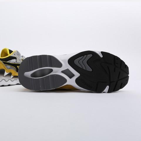 мужские серые, жёлтые, белые, чёрные  кроссовки mizuno wave rider 1s D1GA193247 - цена, описание, фото 4