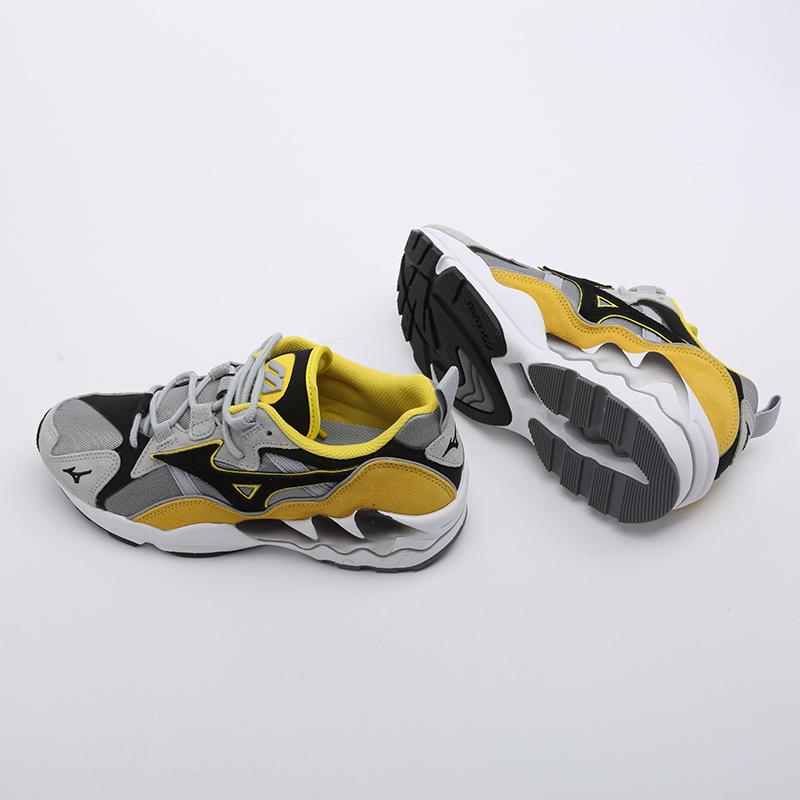 мужские серые, жёлтые, белые, чёрные  кроссовки mizuno wave rider 1s D1GA193247 - цена, описание, фото 5
