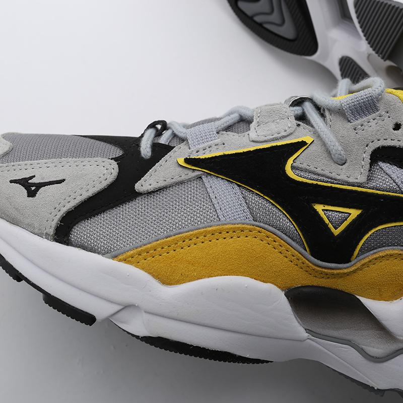 мужские серые, жёлтые, белые, чёрные  кроссовки mizuno wave rider 1s D1GA193247 - цена, описание, фото 8