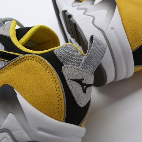 мужские серые, жёлтые, белые, чёрные  кроссовки mizuno wave rider 1s D1GA193247 - цена, описание, фото 9