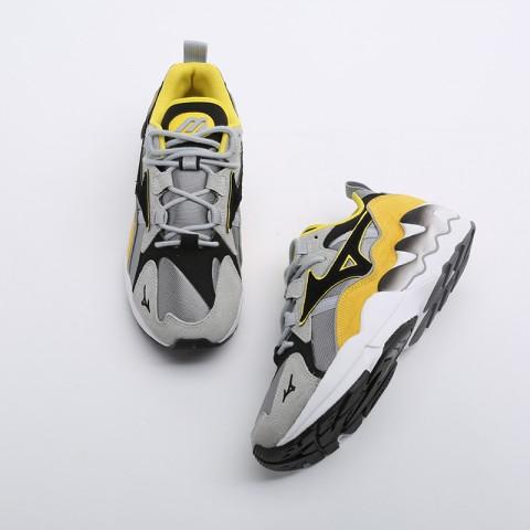 мужские серые, жёлтые, белые, чёрные  кроссовки mizuno wave rider 1s D1GA193247 - цена, описание, фото 6