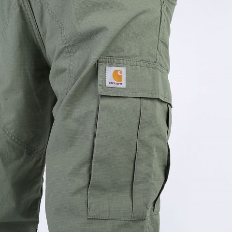 мужские зеленые  брюки carhartt wip regular cargo pant I015875-dollar green - цена, описание, фото 7