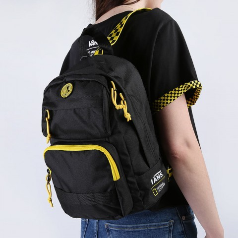 женский черный  рюкзак vans national geographic backpack VA4RGRBLK - цена, описание, фото 1