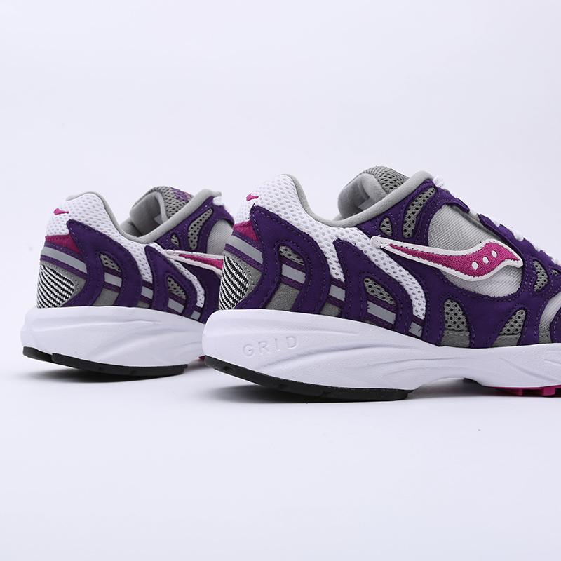 мужские белые, фиолетовые  кроссовки saucony grid azura 2000 S704912 - цена, описание, фото 3