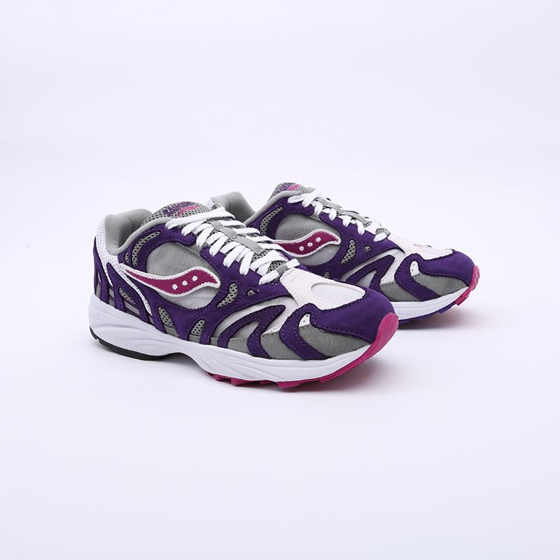 мужские белые, фиолетовые  кроссовки saucony grid azura 2000 S704912 - цена, описание, фото 2