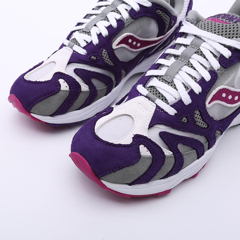 мужские белые, фиолетовые  кроссовки saucony grid azura 2000 S704912 - цена, описание, фото 7