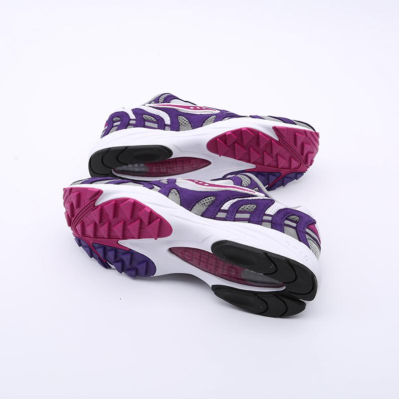 мужские белые, фиолетовые  кроссовки saucony grid azura 2000 S704912 - цена, описание, фото 5