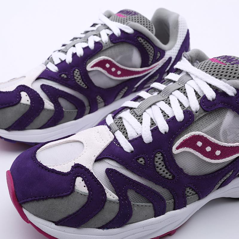 мужские белые, фиолетовые  кроссовки saucony grid azura 2000 S704912 - цена, описание, фото 6