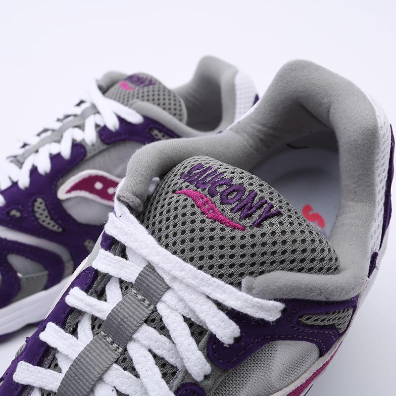 мужские белые, фиолетовые  кроссовки saucony grid azura 2000 S704912 - цена, описание, фото 8