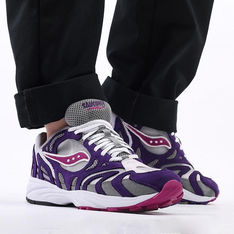мужские белые, фиолетовые  кроссовки saucony grid azura 2000 S704912 - цена, описание, фото 9