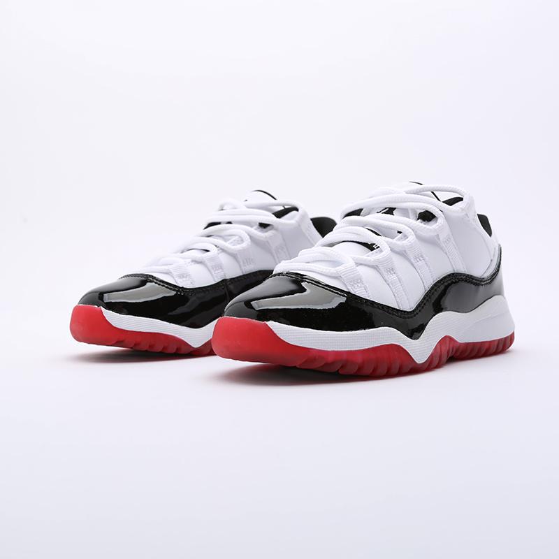 детские чёрные  кроссовки jordan 11 retro low (ps) 505835-160 - цена, описание, фото 5
