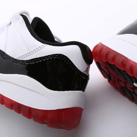 детские чёрные  кроссовки jordan 11 retro low (ps) 505835-160 - цена, описание, фото 6