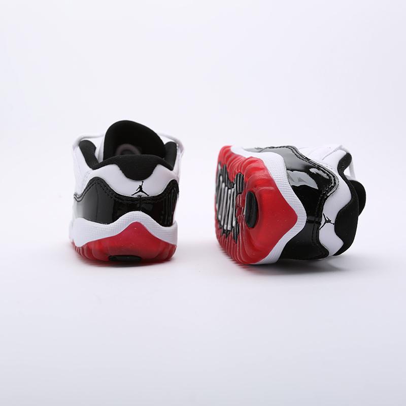 детские чёрные  кроссовки jordan 11 retro low (td) 505836-160 - цена, описание, фото 7
