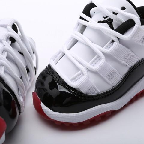 детские чёрные  кроссовки jordan 11 retro low (td) 505836-160 - цена, описание, фото 4