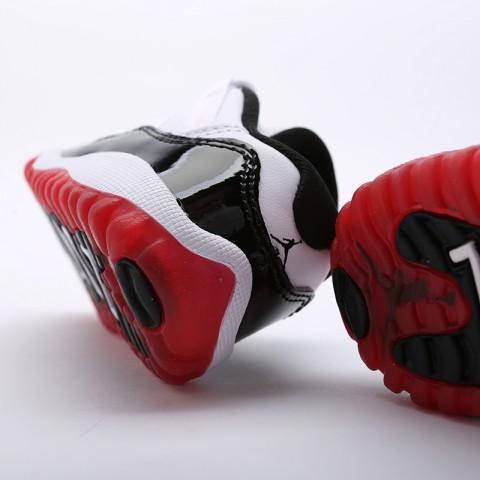 детские чёрные  кроссовки jordan 11 retro low (td) 505836-160 - цена, описание, фото 3