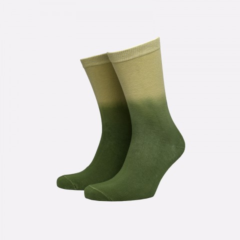 зелёные  носки stussy dip dye everyday socks 138677-green - цена, описание, фото 1