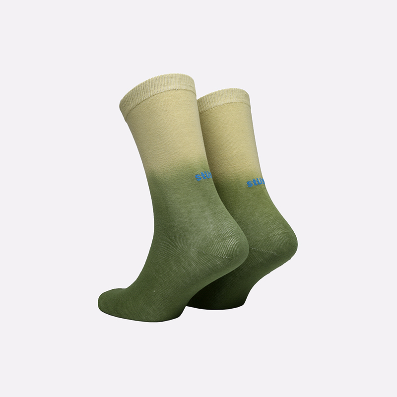 зелёные  носки stussy dip dye everyday socks 138677-green - цена, описание, фото 2