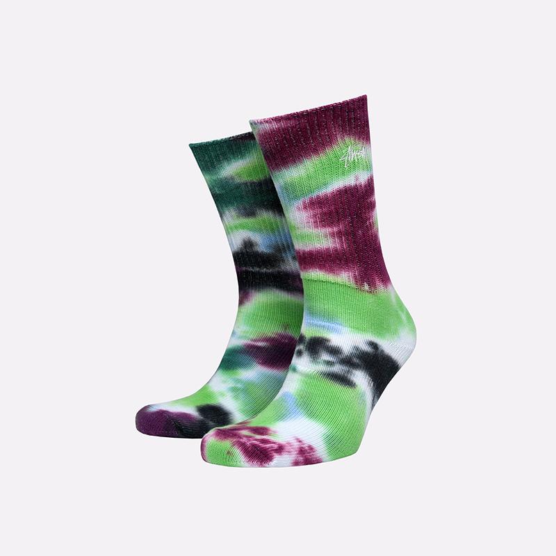 разноцветные  носки stussy tie dye socks 138661-blue - цена, описание, фото 1