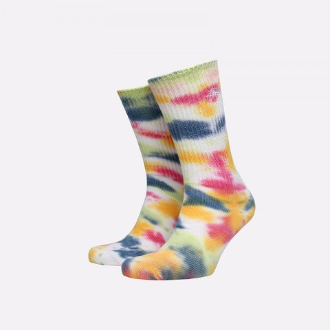 разноцветные  носки stussy tie dye socks 138661-pink - цена, описание, фото 1