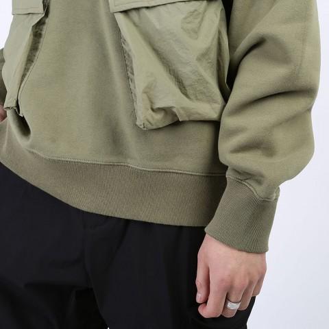 мужскую зеленую  толстовка stussy cargo fleece hood 218094-khaki - цена, описание, фото 3