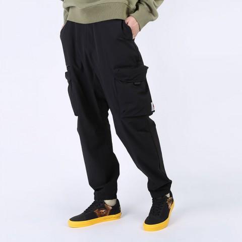 мужские черные  брюки carhartt wip hayes pant I027598-black - цена, описание, фото 1
