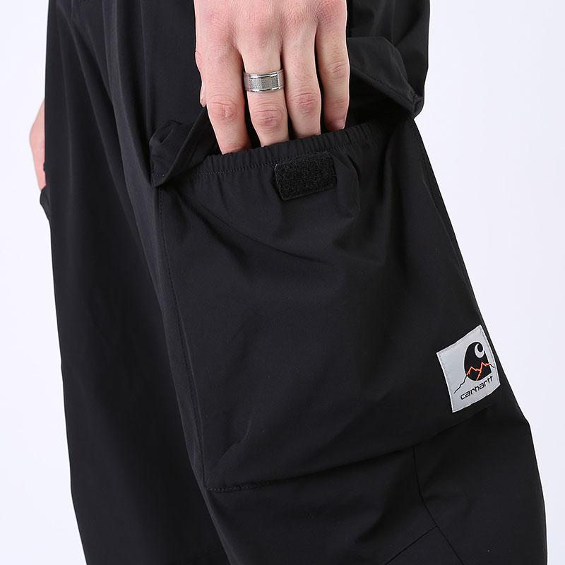 мужские черные  брюки carhartt wip hayes pant I027598-black - цена, описание, фото 2