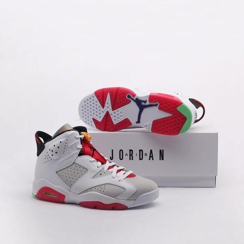 мужские белые  кроссовки jordan retro 6 CT8529-062 - цена, описание, фото 9