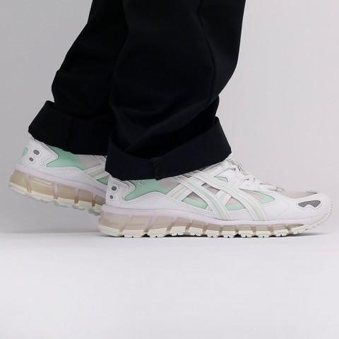 женские белые  кроссовки asics gel-kayano 5 360 1022A173-100 - цена, описание, фото 9