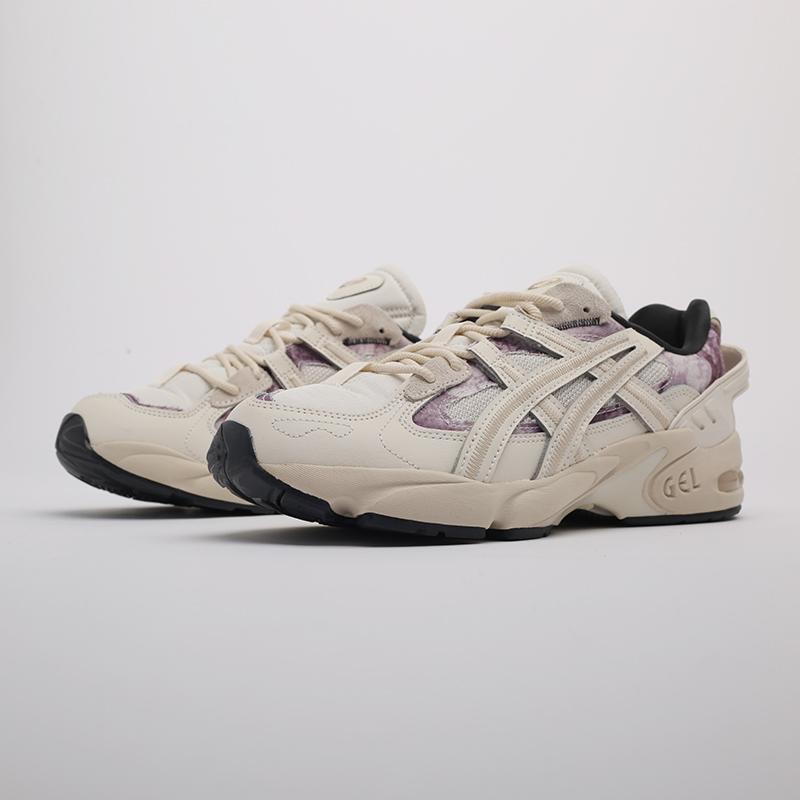 мужские бежевые  кроссовки asics gel-kayano 5 re 1021A411-200 - цена, описание, фото 4