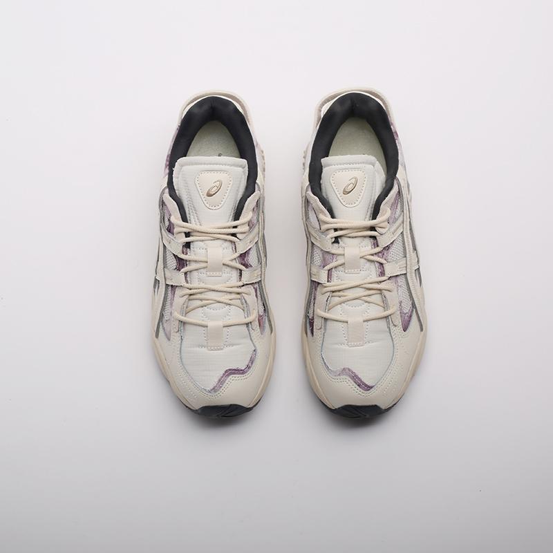 мужские бежевые  кроссовки asics gel-kayano 5 re 1021A411-200 - цена, описание, фото 5
