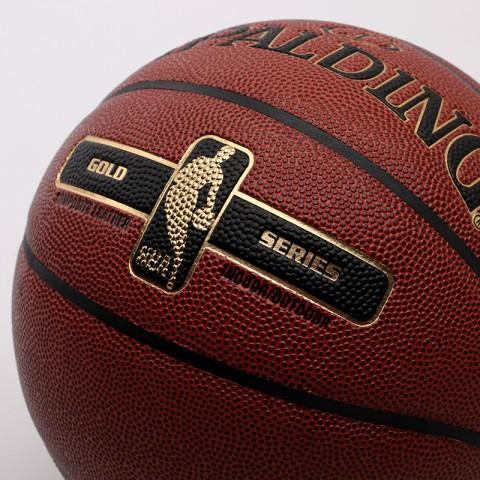коричневый  мяч №7 spalding nba gold series 76-014 - цена, описание, фото 3