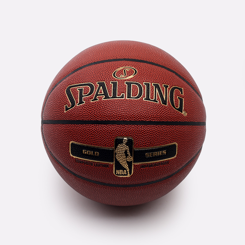 коричневый  мяч №7 spalding nba gold series 76-014 - цена, описание, фото 1