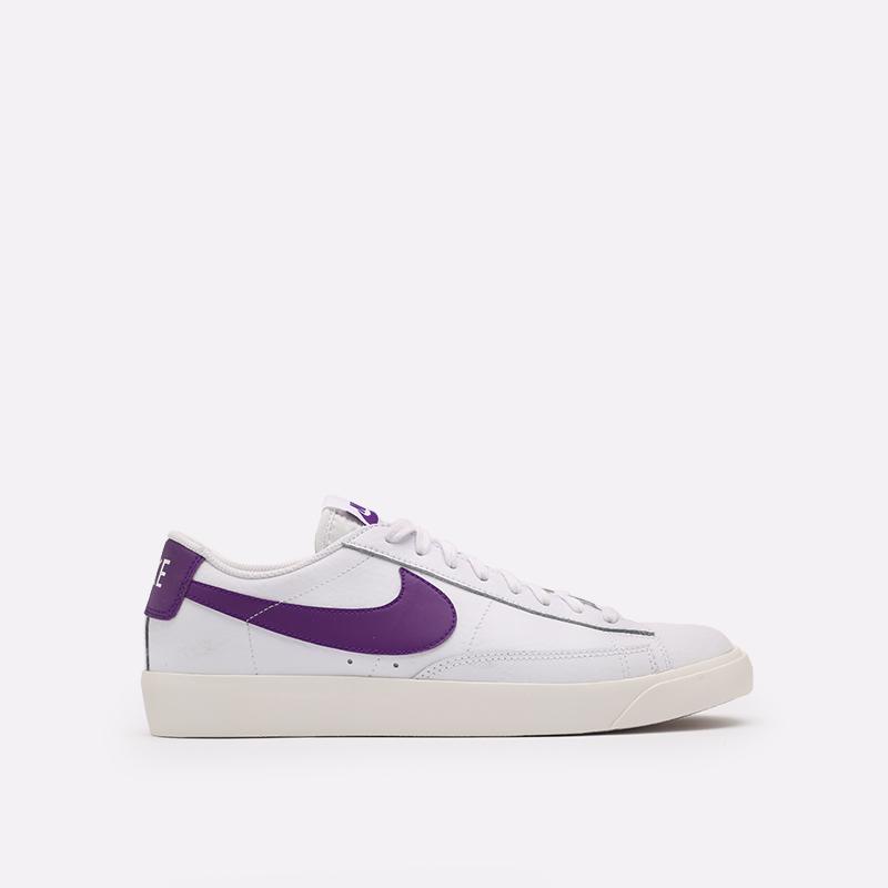 мужские белые  кроссовки nike blazer low leather CI6377-103 - цена, описание, фото 1