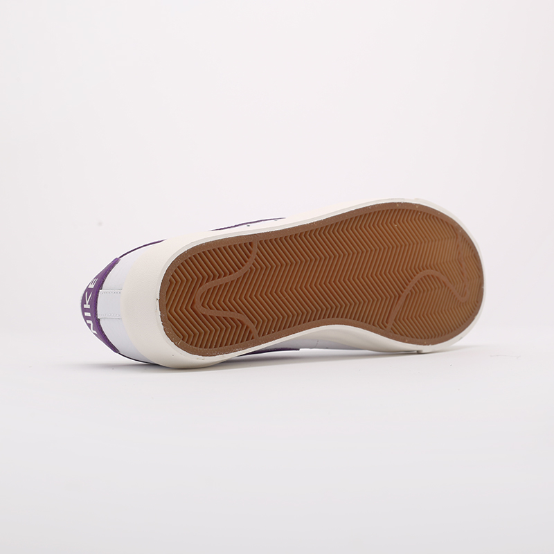 мужские белые  кроссовки nike blazer low leather CI6377-103 - цена, описание, фото 2
