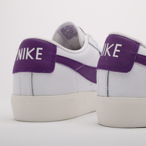 мужские белые  кроссовки nike blazer low leather CI6377-103 - цена, описание, фото 5
