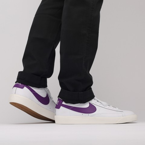 мужские белые  кроссовки nike blazer low leather CI6377-103 - цена, описание, фото 8