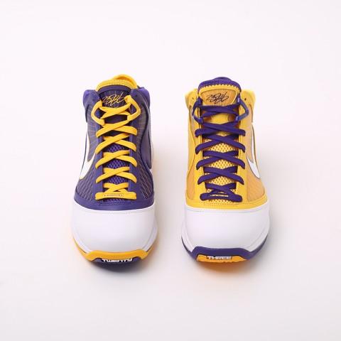 мужские жёлтые, фиолетовые  кроссовки nike lebron vii qs CW2300-500 - цена, описание, фото 4