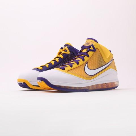мужские жёлтые, фиолетовые  кроссовки nike lebron vii qs CW2300-500 - цена, описание, фото 5